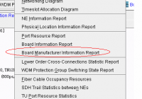 Board Manufacturer Information Report.